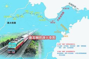 德龙烟铁路起自德州,横跨山东省北部,西连京沪,石德铁路,东接胶东半岛