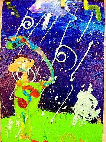 下雨创意简笔画