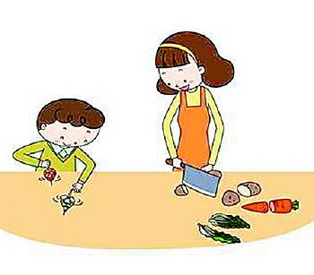 整理餐具卡通图片
